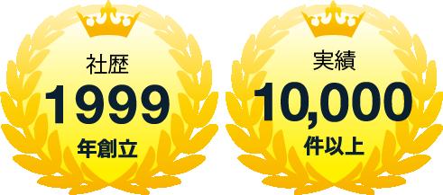 1999年創立 実績10,000件以上